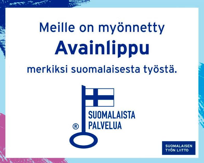 Avainlippu osoituksena suomalaisesta työstä ja palvelusta